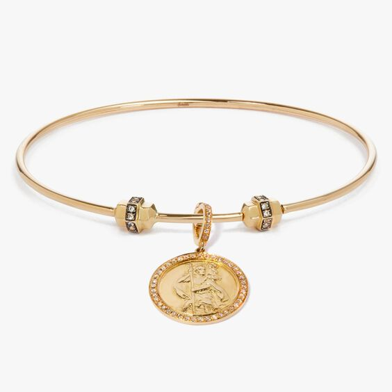 Mythology 18ct Gold Diamond St Christopher Charm | Annoushka jewelley