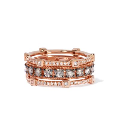 Icy Diamond Ring Stack in 18ct Rose Gold