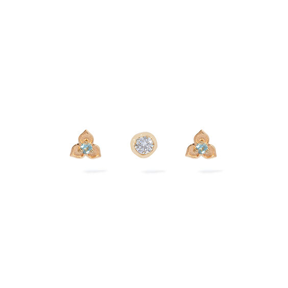 Tokens 14ct Gold Aquamarine Earring Trio | Annoushka jewelley