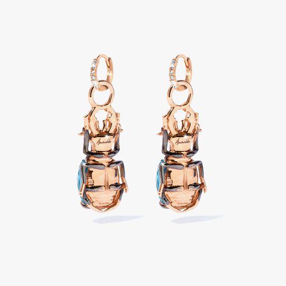 Mythology 18ct Rose Gold Topaz Beetle Earring Drops | Annoushka jewelley
