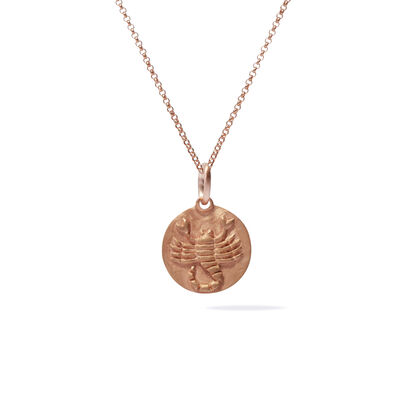 Mythology 18ct Rose Gold Scorpio Necklace