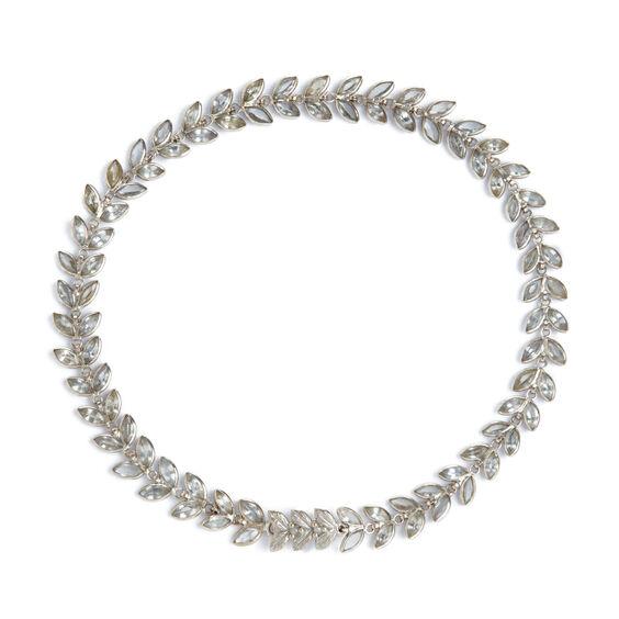 18ct White Gold White Sapphire Vine Bracelet | Annoushka jewelley