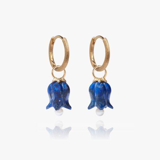 18ct Gold Lapis Lazuli Tulip Earrings