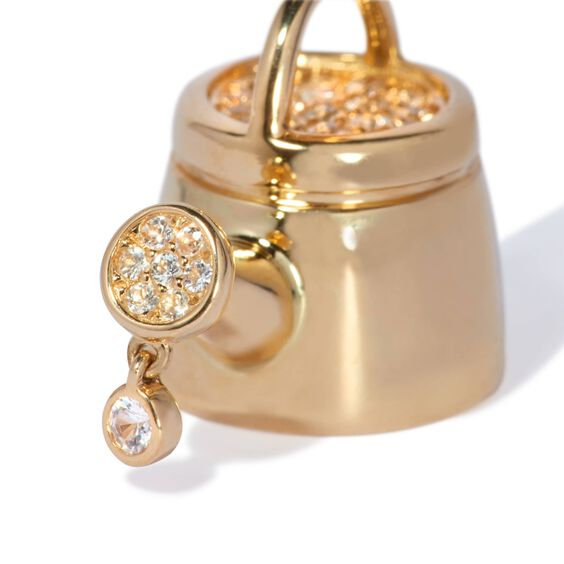 18ct Gold Sapphire Water Your Hope Charm | Annoushka jewelley