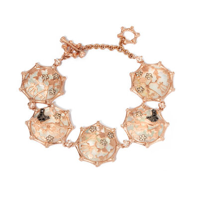 Dream Catcher 18ct Rose Gold Pearl Bracelet