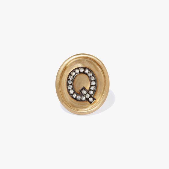 18ct Gold Diamond Initial Q Face   Annoushka jewelley