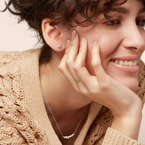 Marguerite 18ct White Gold Diamond Small Stud Earrings