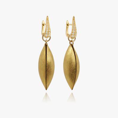 18ct Gold Diamond Seed Earrings
