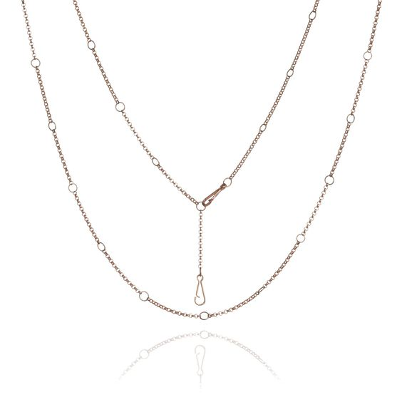Hoopla 18ct Rose Gold Long Chain | Annoushka jewelley
