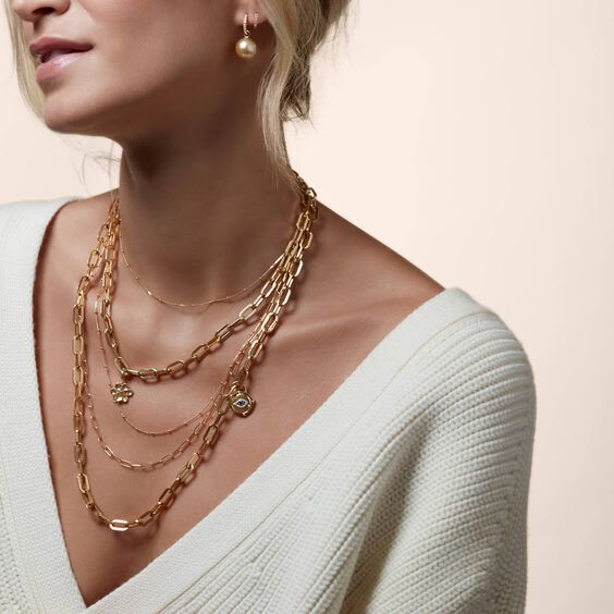 18ct Gold Saturn Short Chain | Annoushka jewelley