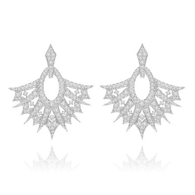 Sutra Diamond Drop Earrings