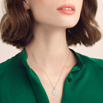 Mythology 18ct White Gold Gemini Necklace