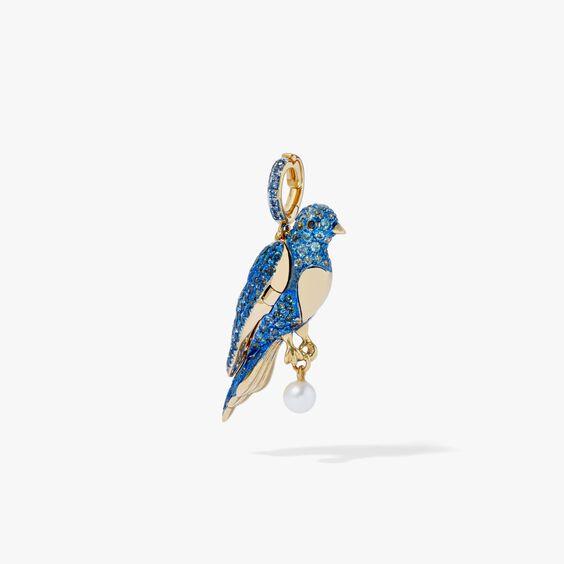 Mythology 18ct Gold Bluebird Locket Charm