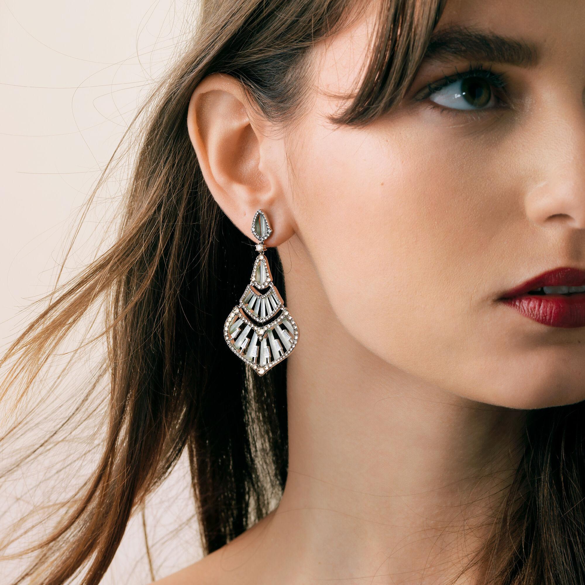 Flamenco 18ct White Gold 3 84 Diamond Jade Earrings Annoushka Us