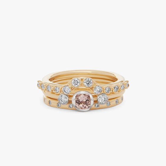 18ct Gold Morganite and Diamond Ring Stack | Annoushka jewelley