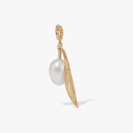 Mythology 18ct Gold Pearl Olive Seed Charm | Annoushka jewelley