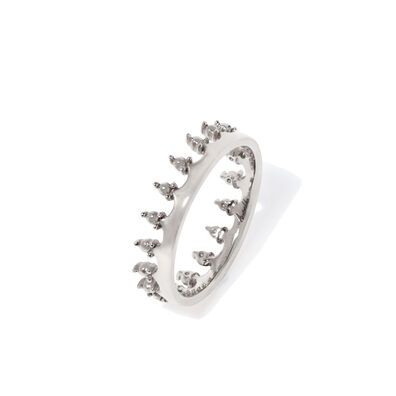 Crown 18ct White Gold Ring