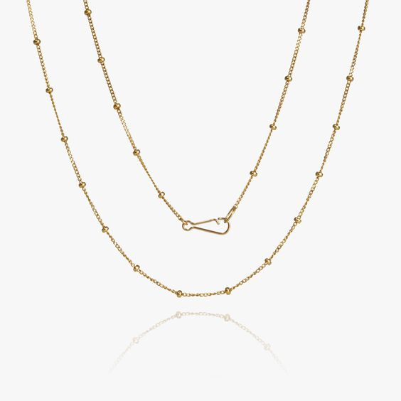 14ct Gold Saturn Short Chain | Annoushka jewelley