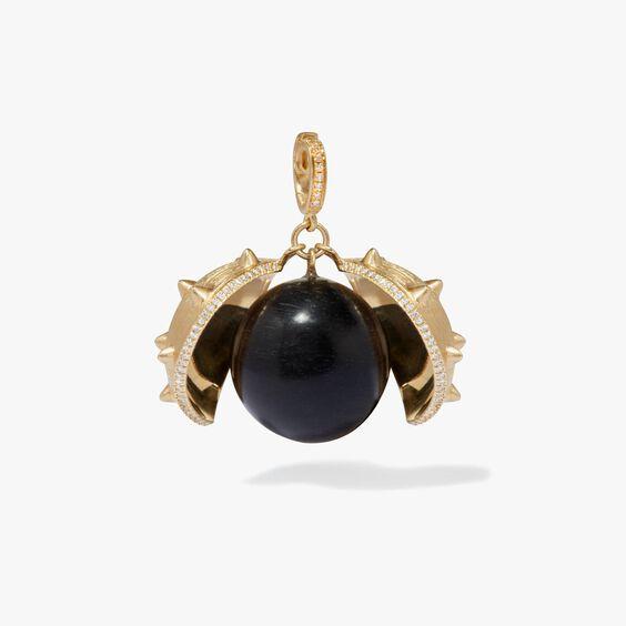 Mythology 18ct Gold Ebony Conker Seed Pendant | Annoushka jewelley