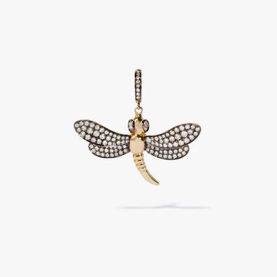 Mythology 18ct Gold Diamond Dragonfly Charm