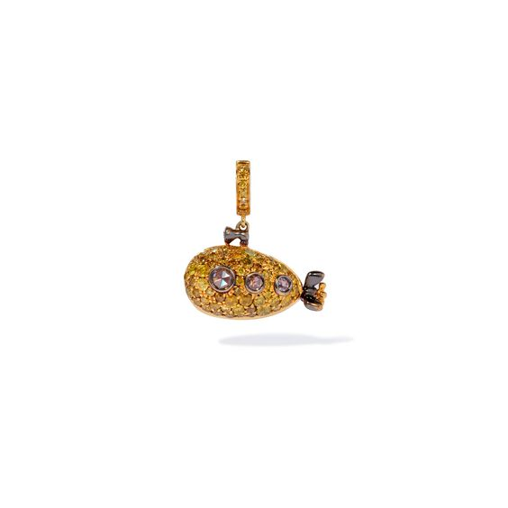18ct Gold Diamond Submarine Charm | Annoushka jewelley