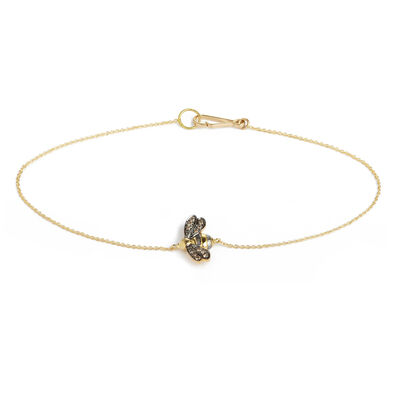 Love Diamonds 18ct Gold Diamond Bee Bracelet