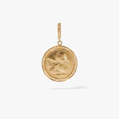 Mythology 18ct Gold Diamond Cherub Charm
