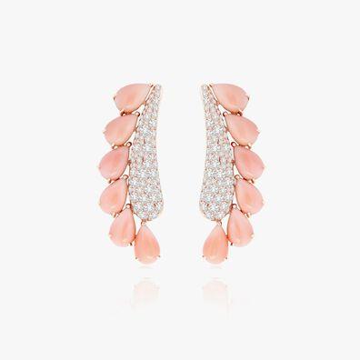 Sutra Coral & Diamond Earrings