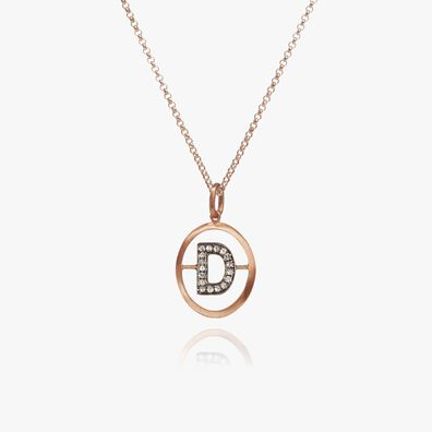 18ct Rose Gold Initial D Necklace