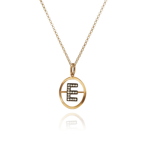 18ct Gold Diamond Initial E Necklace | Annoushka jewelley