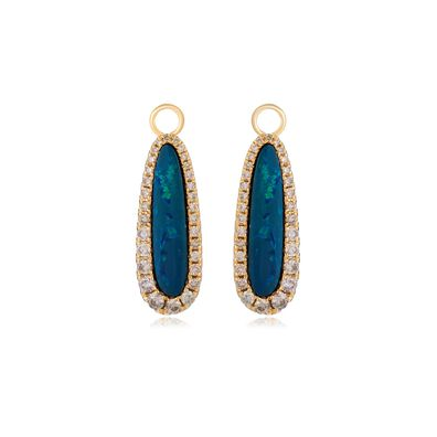 Unique 18ct Gold Opal Earring Drops
