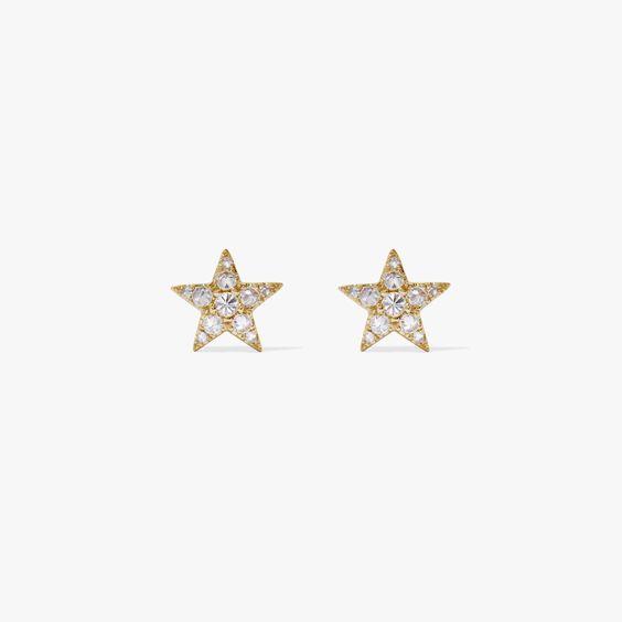 Love Diamonds 18ct Gold Diamond Star Studs | Annoushka jewelley