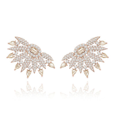 Sutra Diamond Fan Earrings