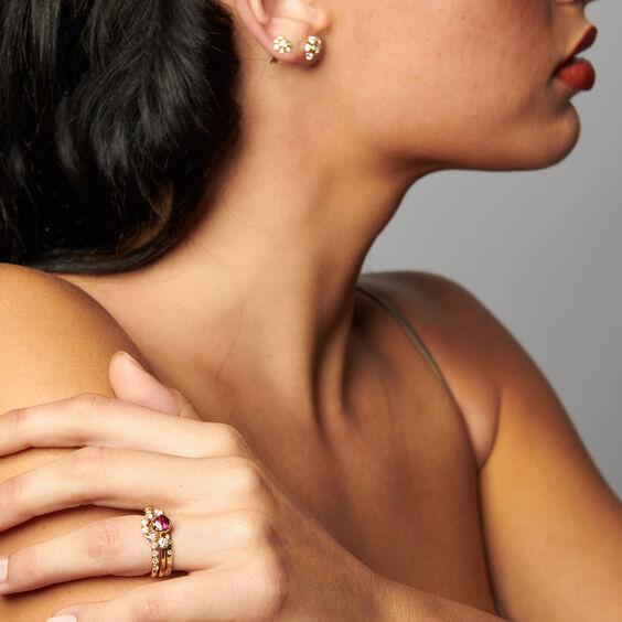 Marguerite 18ct Rubellite & Diamond Engagement Ring | Annoushka jewelley