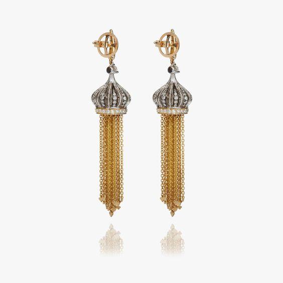 Touch Wood 18ct Gold Tassel Earrings
