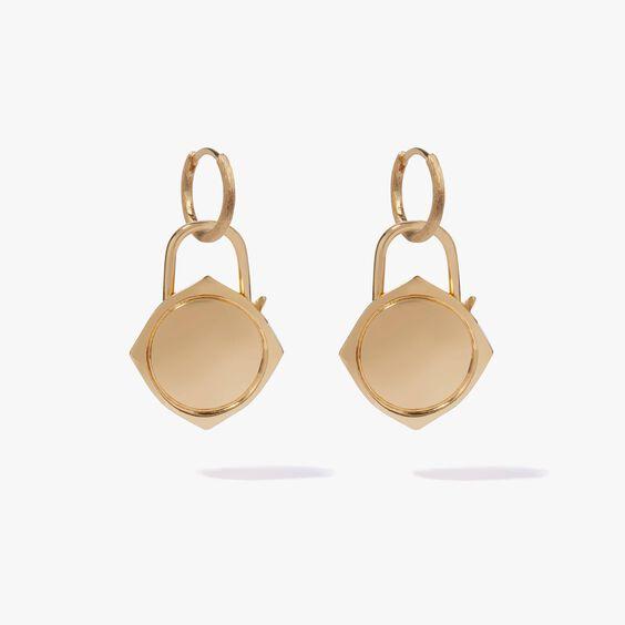 Lovelock 18ct Gold Charm Drop Earrings
