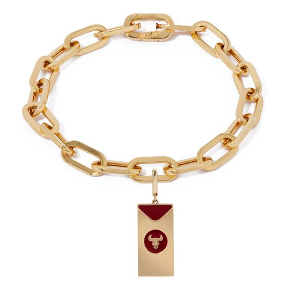 Mythology 18ct Gold Red Envelope Ox Cable Bracelet | Annoushka jewelley