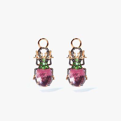 Mythology 18ct Rose Gold Amethyst Beetle Earring Drops