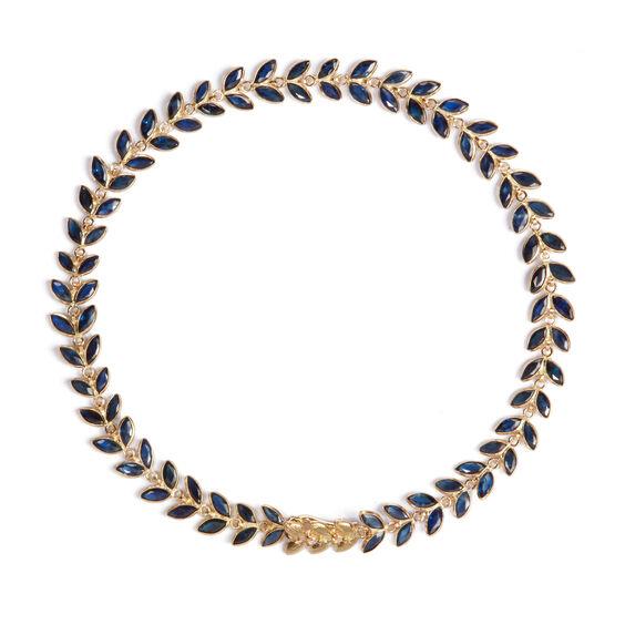 18ct Gold Sapphire Vine Bracelet | Annoushka jewelley