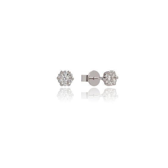 Daisy 18ct White Gold 0.32ct Diamond Studs | Annoushka jewelley