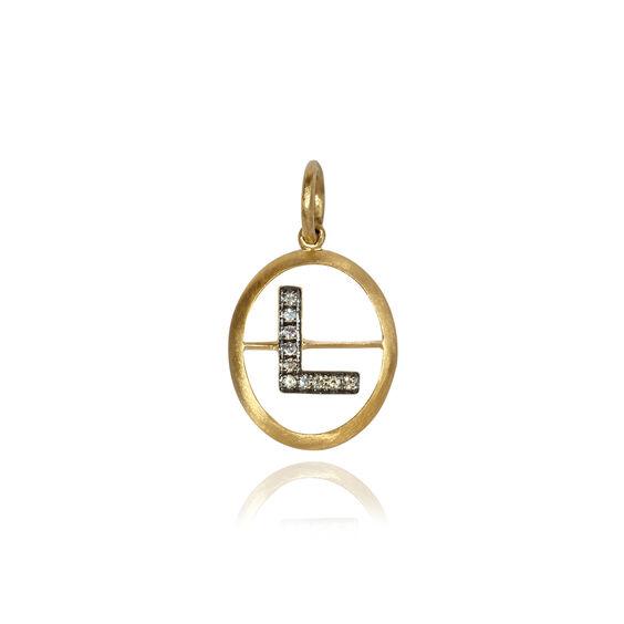 18ct Gold Diamond Initial L Pendant | Annoushka jewelley