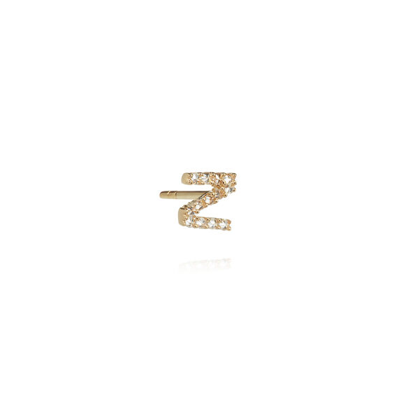 18ct Gold Diamond Initial Z Single Stud Earring
