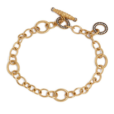 18ct Gold & Diamond Charm Bracelet