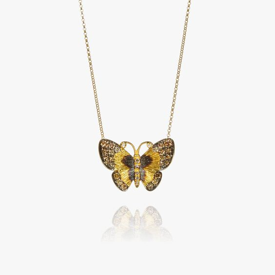 Butterflies 18ct Gold Diamond Necklace | Annoushka jewelley