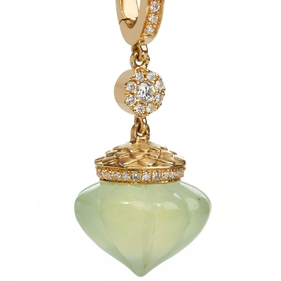 Touch Wood 18ct Gold Diamond Prehnite Charm | Annoushka jewelley