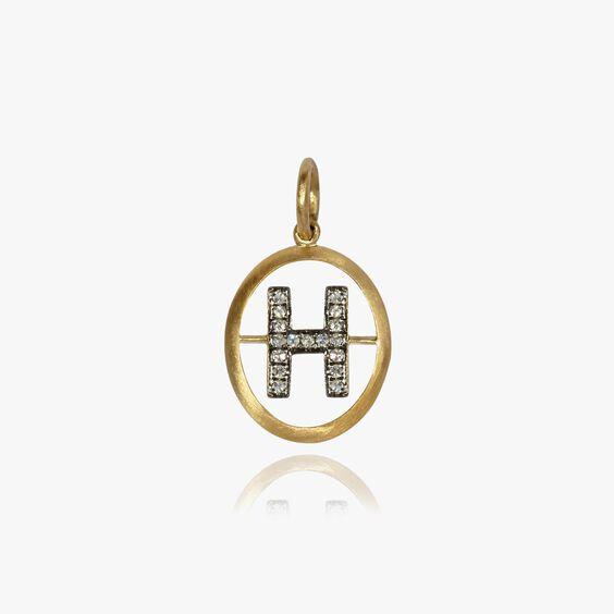 18ct Gold Diamond Initial H Pendant | Annoushka jewelley