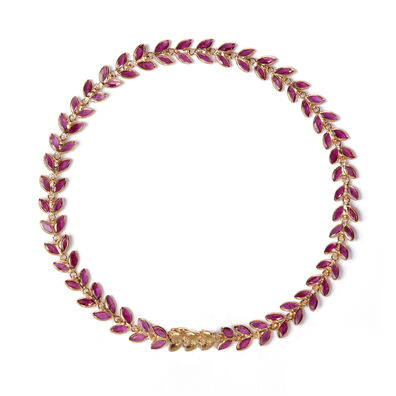 18ct Gold Ruby Vine Bracelet