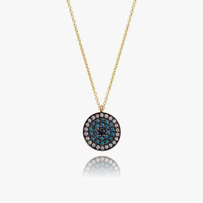 Love Diamonds 18ct Gold Diamond Evil Eye Necklace