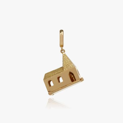 """18ct Gold """"God Is In The House"""" Charm"""