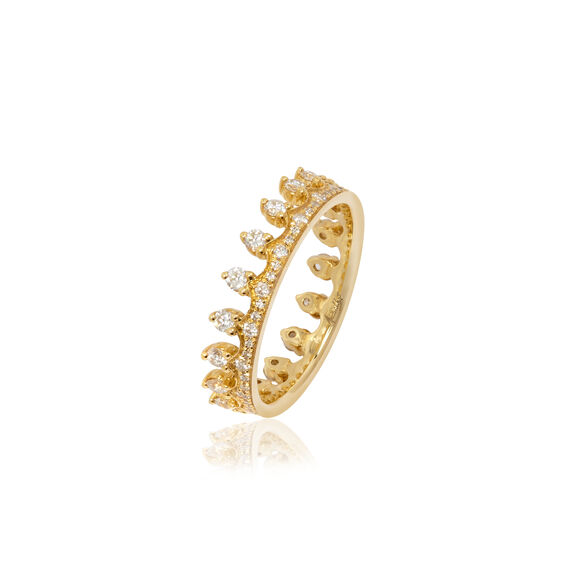 Crown 18ct Gold Diamond Ring